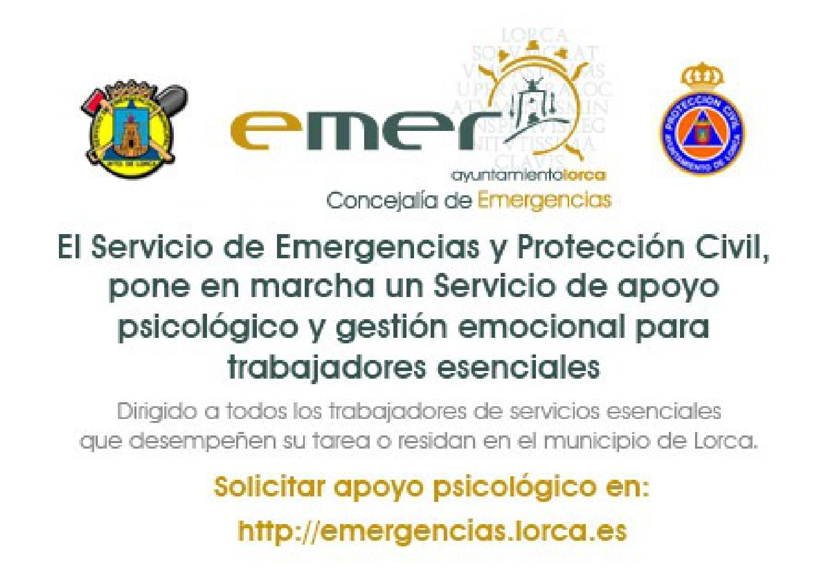 El Ayuntamiento de Lorca pone en marcha un servicio de apoyo psicológico dirigido a trabajadores de servicios esenciales